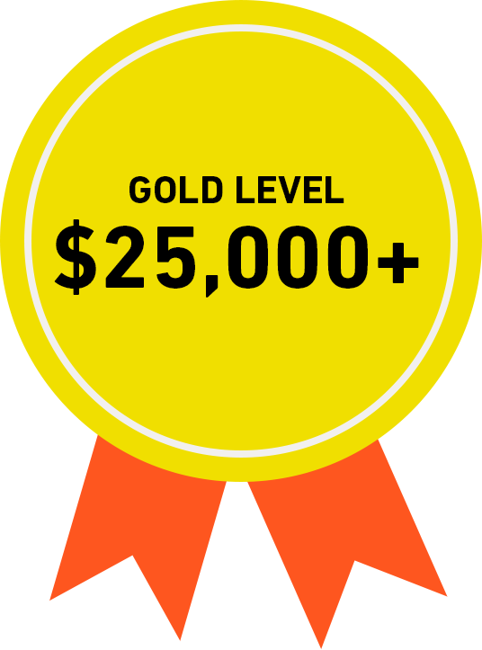 Gold Level: $25,000+