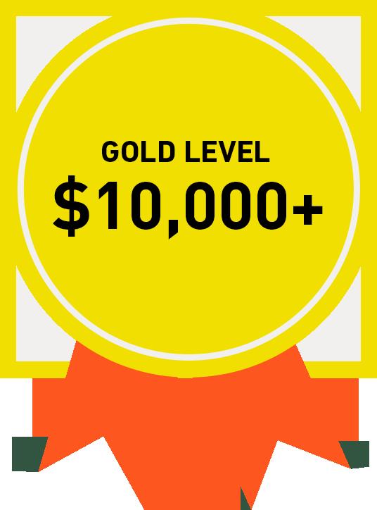 Gold Level: $10,000+