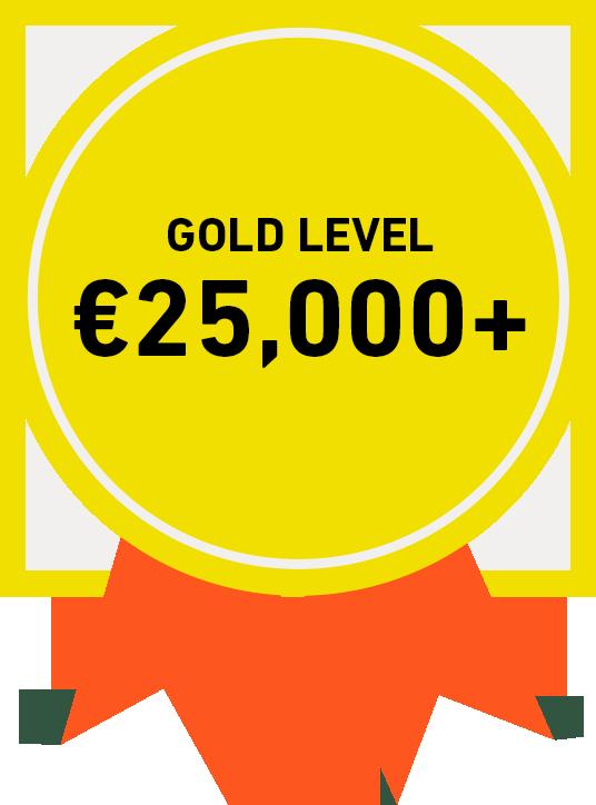 Gold Level: €25,000+