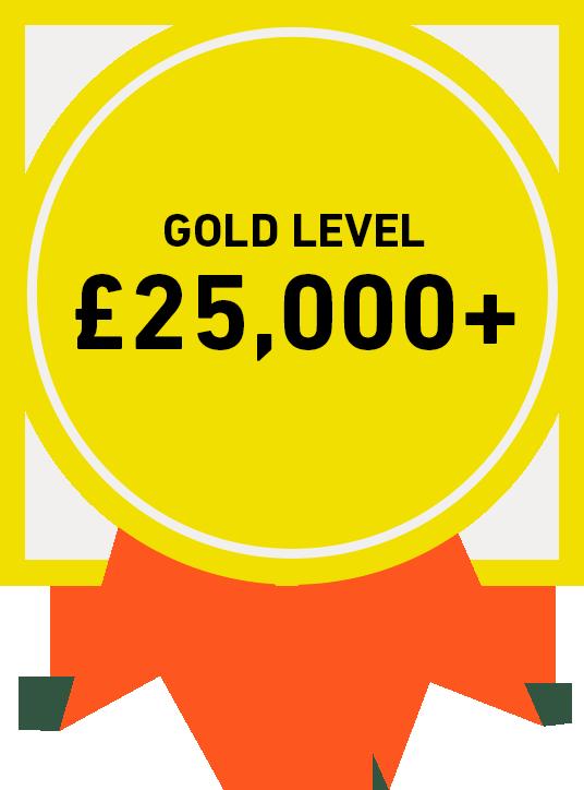 Gold Level: £25,000+