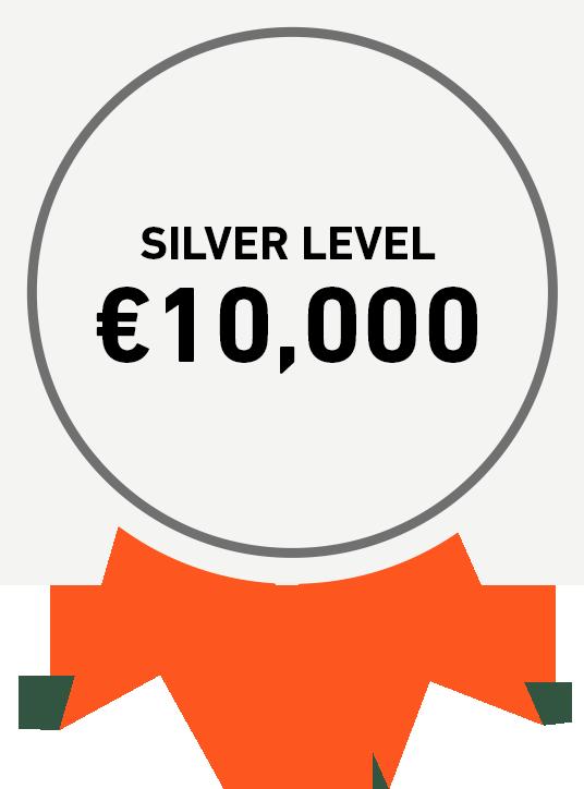 Silver Level: €10,000