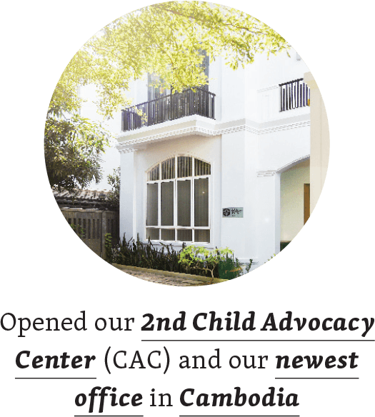 Opened our 2nd Child Advocacy Center (CAC) and our newest office in Cambodia