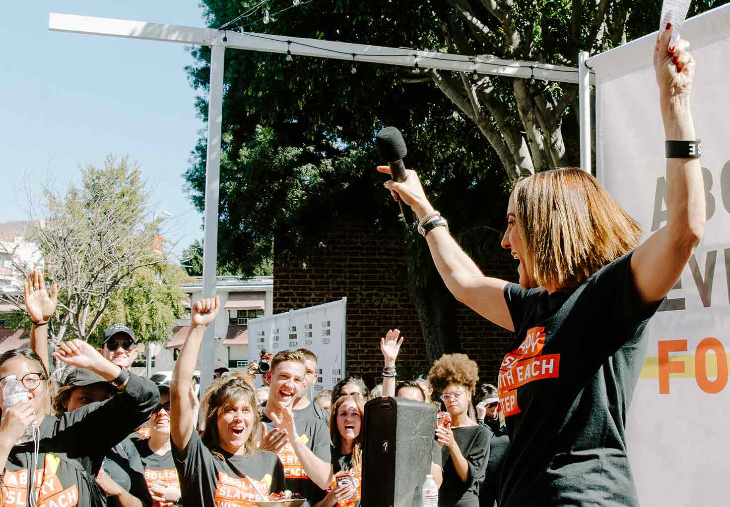 Walk for Freedom photo: Christine Caine at walk for freedom 2019