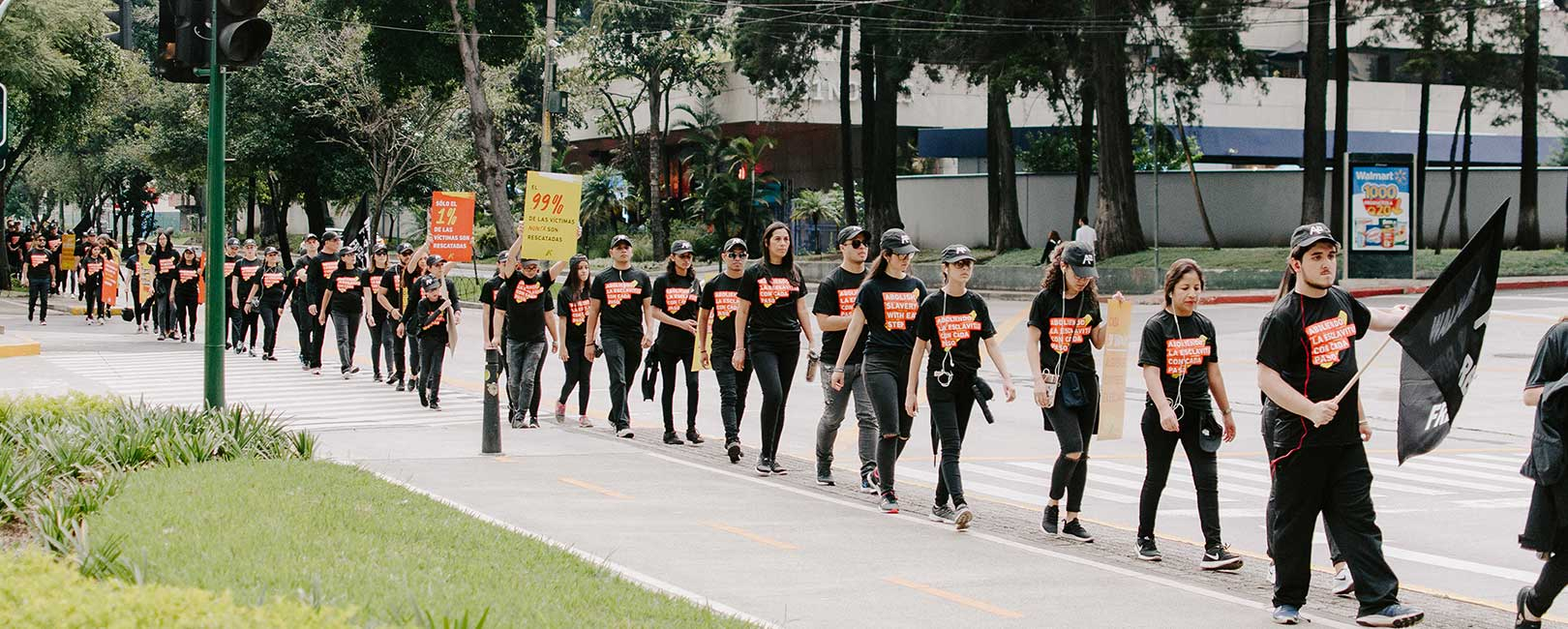 Line of Walkers: Walk for Freedom 2019