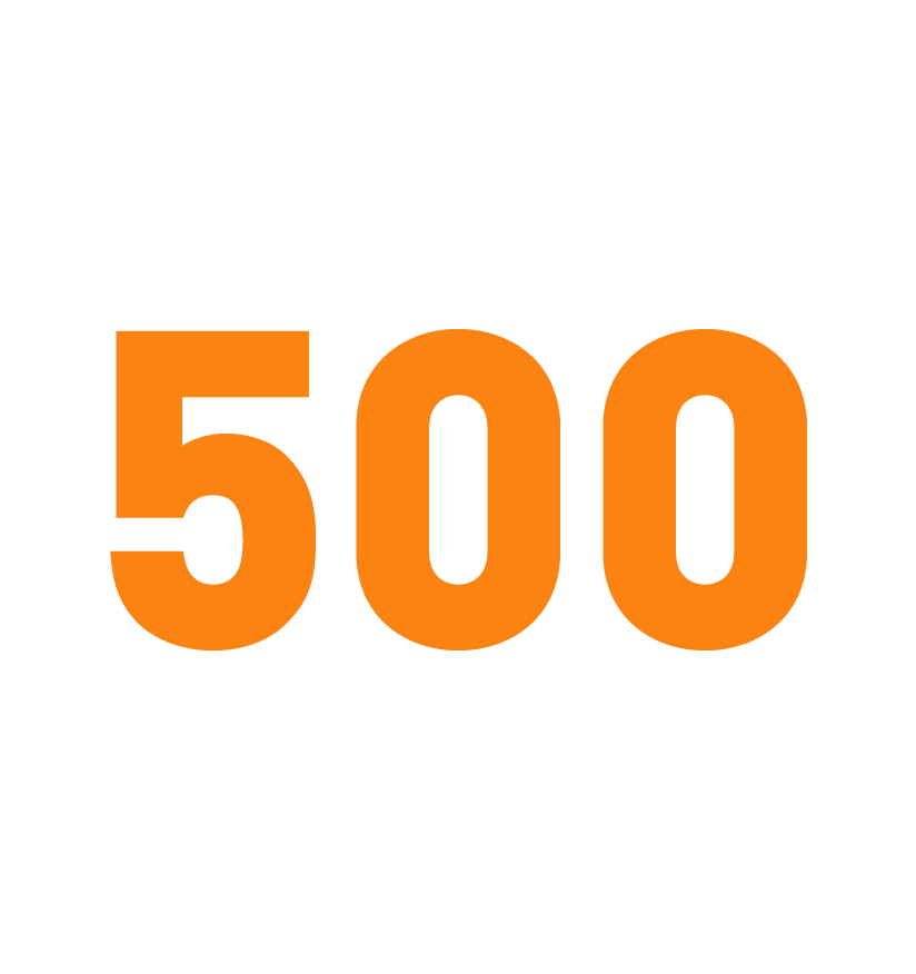 Over 500 cities