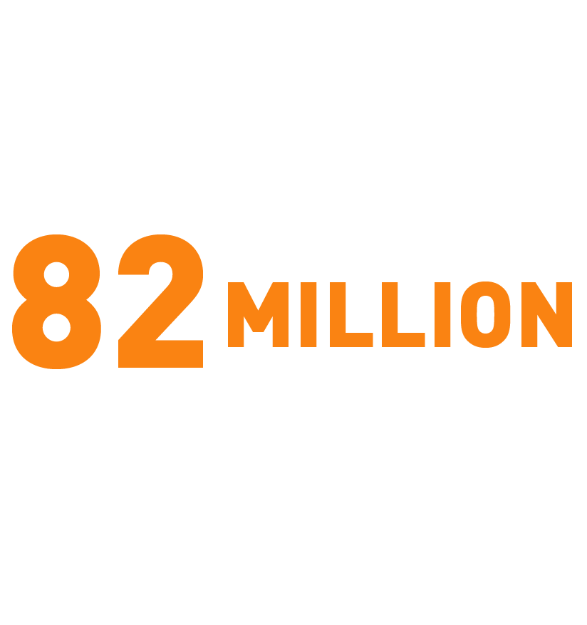 Reached over 82 million people thorugh social media