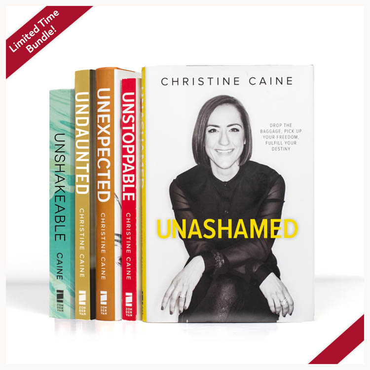 'UN' book bundle by Christine Caine. Photo of all 5 books.