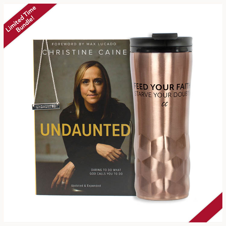 Undaunted Bundle: Undaunted book, silver necklace, copper mug